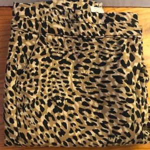 Madison Cropped Leopard Pants